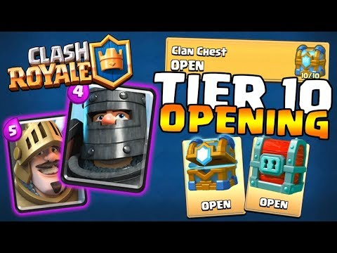 10 OUT OF 10 CLAN CHEST OPENING :: Clash Royale :: DOUBLE PRINCE 5000 TROPHIES DECK!