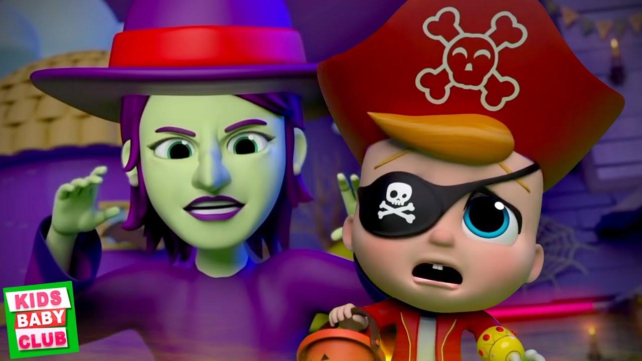 Ha Ha It's Halloween Night | Spooky Nursery Rhymes | Halloween Songs & Music | Scary Cartoon Videos