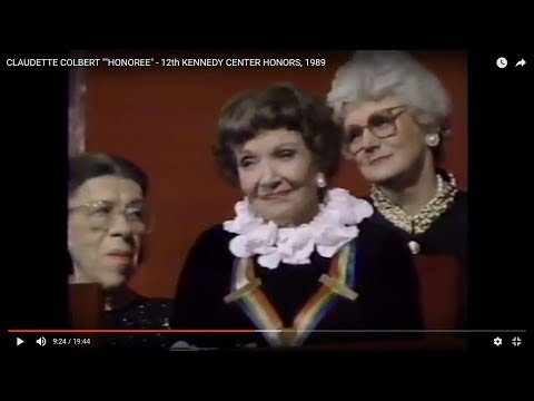 "CLAUDETTE COLBERT """"HONOREE"" - 12th KENNEDY CENTER HONORS, 1989"