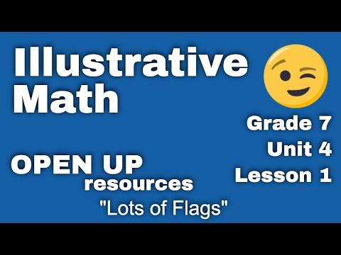 "Grade 7 Illustrative Mathematics: Unit 4, Lesson 1 ""Lots of Flags"" thumbnail"