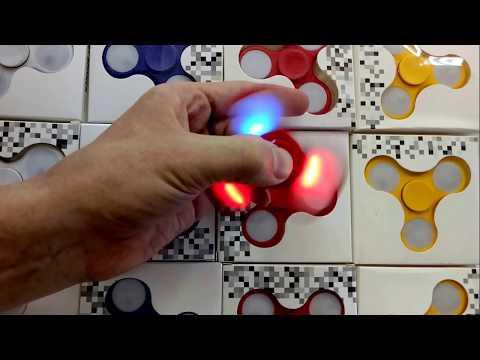 www.spbigra.ru Спиннер светящийся Fidget Hand Spinner с LED подсветкой