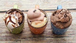 3 EASY ICE CREAM MUG CAKE I EGGLESS & WITHOUT OVEN l CHOCOLATE, VANILLA, CHOCO FUDGE ICE CREAM CAKE