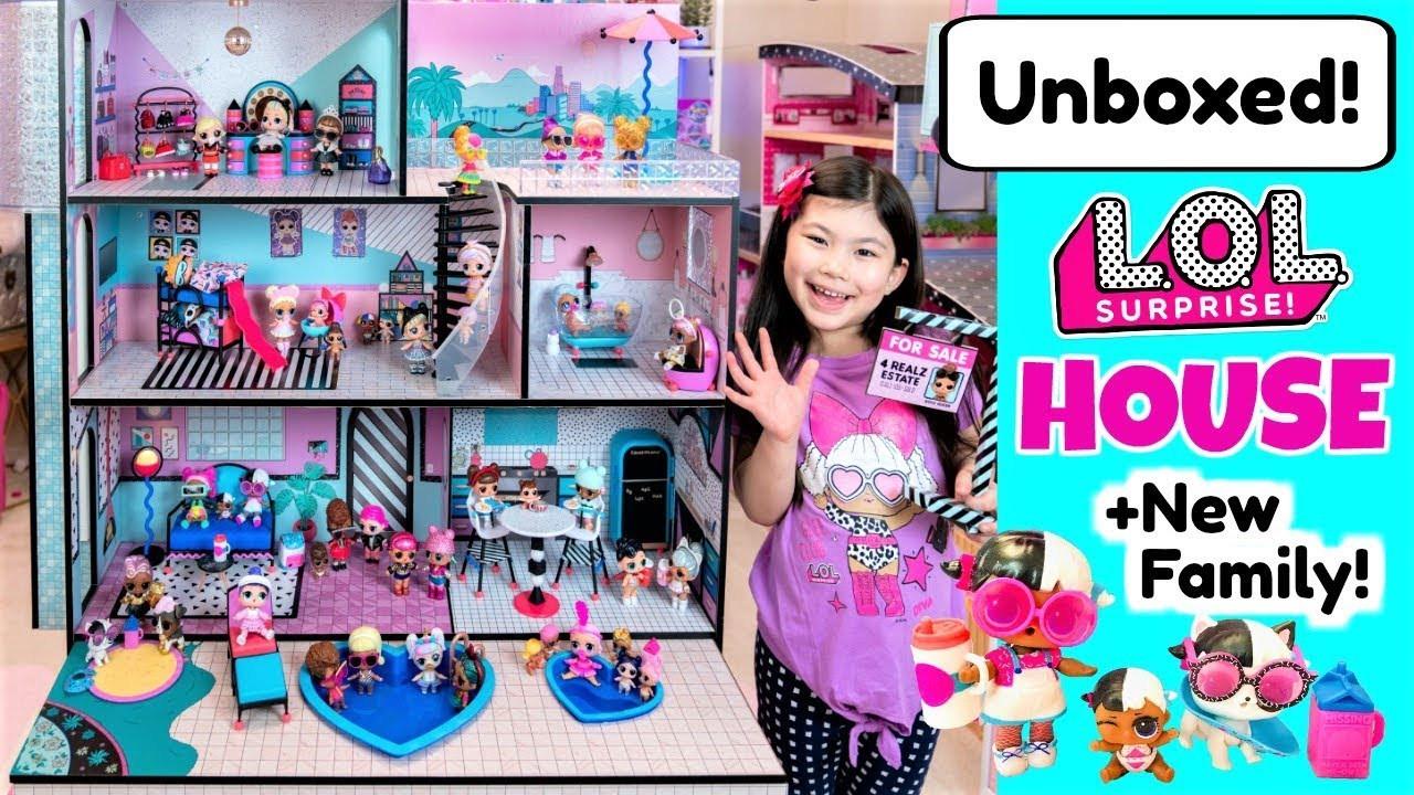 New Lol Surprise Doll House Full Unboxing House Tour New Family