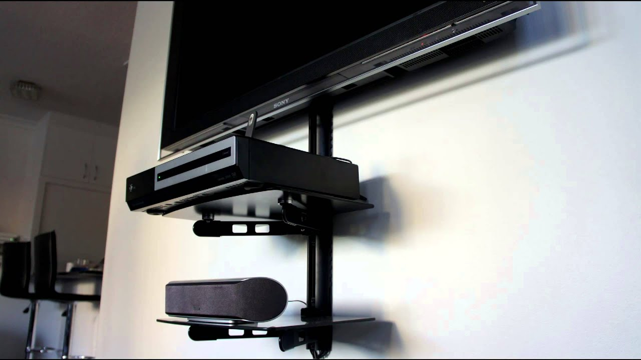AV Shelf   Shelf Wall Mounting Bracket   TV Shelf   YouTube