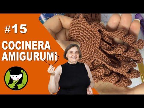 Cocinera AMIGURUMI 15 pelo tejido a crochet
