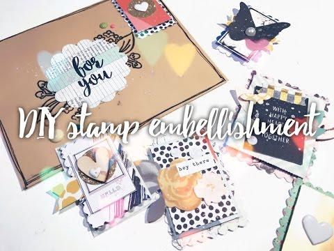 DIY embellishments   Postage stamps 🐌💌