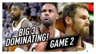 LeBron James, Kyrie Irving & Kevin Love BIG 3 Game 2 Highlights vs Pacers 2017 Playoffs - 89 Pts!