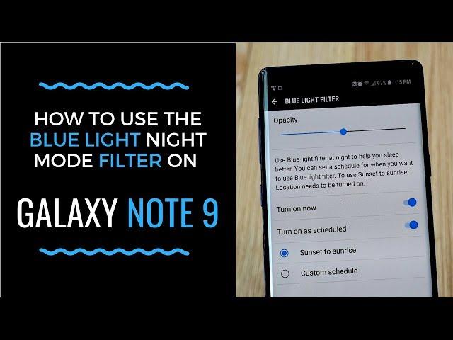 galaxy blue light filter