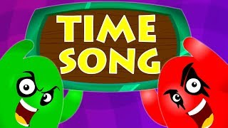 Time Song For Kids | Telling Time Nursery Rhymes | Baby Songs For Children