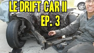 Project 240 - Le Drift Car II | Ep. 3 - Cutting the Front & Stitch Welding