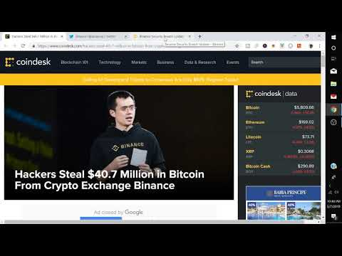 Binance Hack Hackers Steal $40.7 Million in Bitcoin From Crypto Exchange Binance
