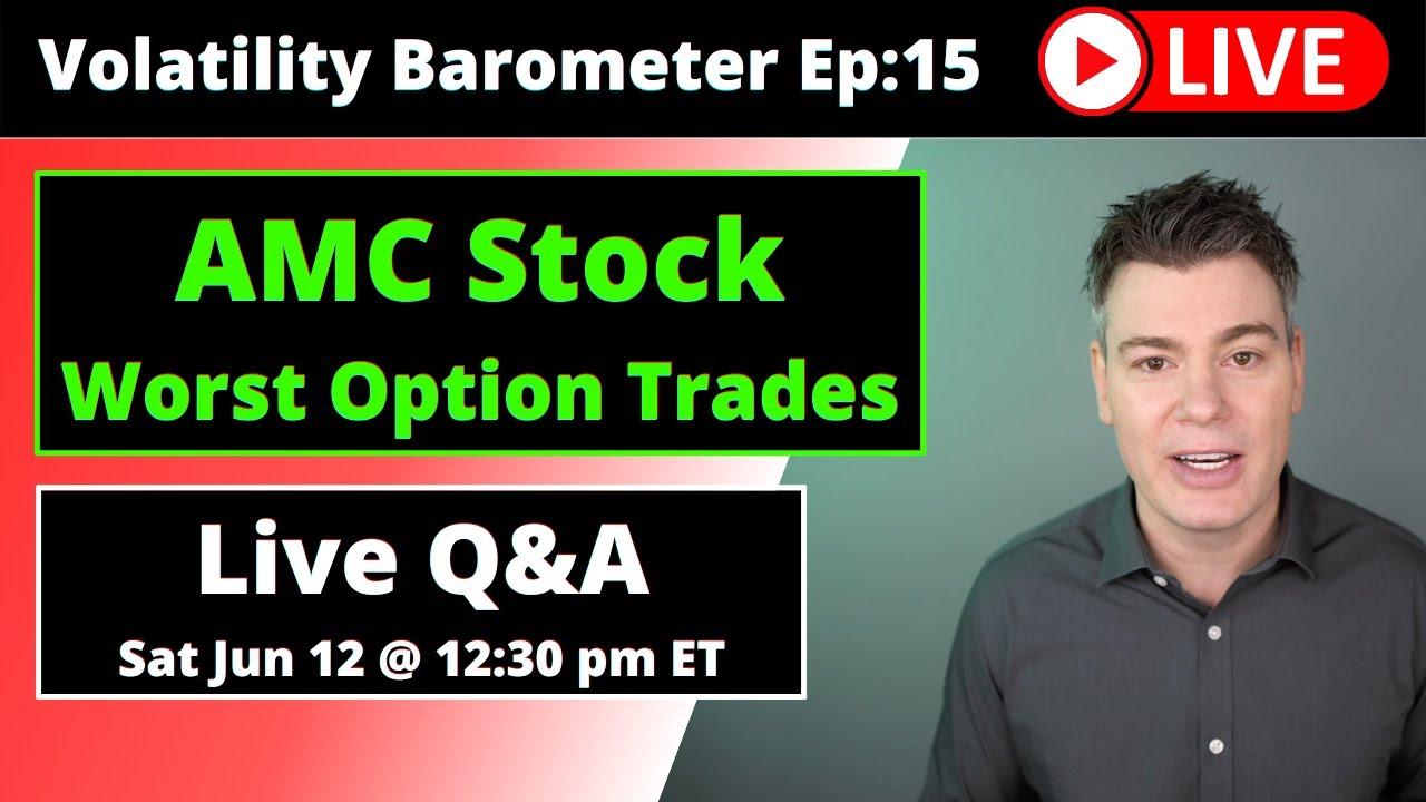 VTS Livestream #15)  The WORST Options trades for AMC