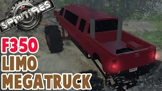 Spintires - FORD F350 LIMO MEGATRUCK - Spin Tires Mods