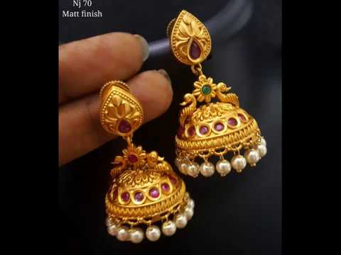Matt finish antique  jewels - VIDHU'S ART JEWELLERY