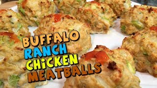 Buffalo Ranch Chicken Meatballs Recipe