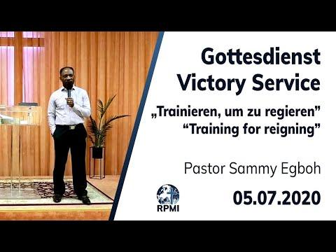 """RPMI-Gottesdienst - Livestream vom 05.07.2020 - Pastor Sammy Egboh """"Trainieren, um zu regieren"""""""