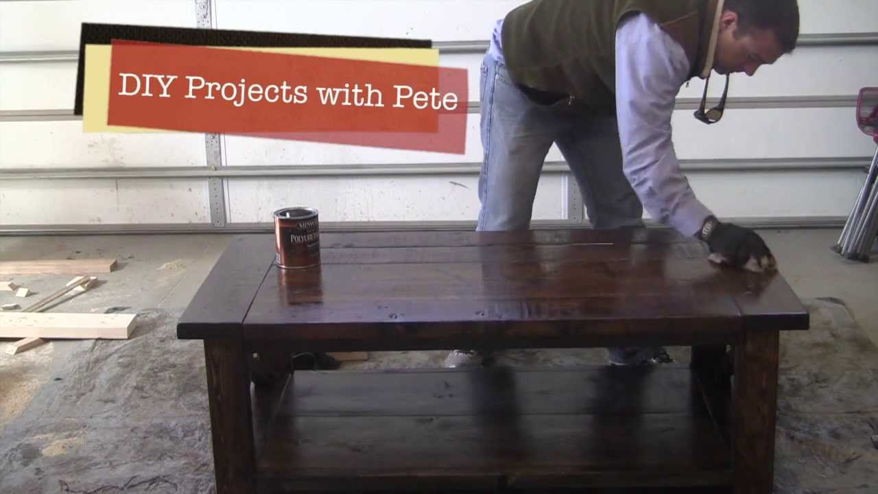 How To Distress A Farm Style Coffee Table   Episode 3, Part 2   YouTube