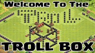 "Clash of Clans - Epic TH9 Troll Base Replays ""Troll Box"" - I'm In A Glass Box Of Trolling!"