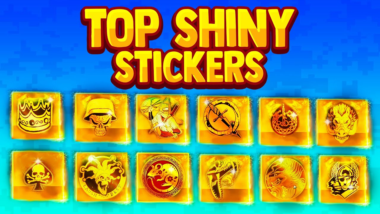 Best Shiny Gold Stickers In Modern Warfare Rare Youtube