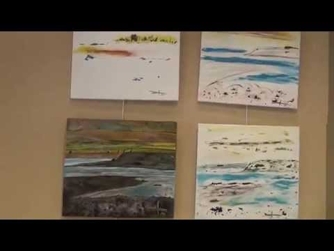ICELAND - PAINTING - EXHIBITION - Atlantic Salmon & Landscapes.