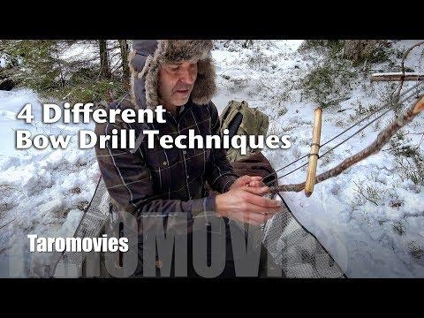 4 Different Bow Drill Techniques / 4K Bushcraft Survival Video