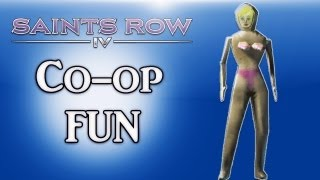 Saints Row 4 Co-op Fun Ep. 5 (Miley Cyrus Doll, Shopping, Getting Owned)