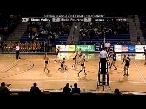 Match 1 - Belle Fourche vs Sioux Valley - 2013 State A Volle