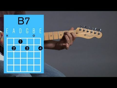 How To Play A B7 Open Chord Guitar Lessons Youtube