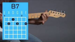 how to play a b7 open chord   guitar lessons