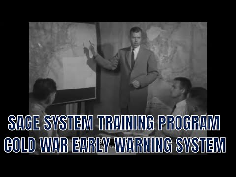 SAGE SYSTEM TRAINING PROGRAM  COLD WAR EARLY WARNING SYSTEM  78864