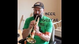 Avery Brewing Go Play IPA Beer Review - Guitar Cover - REM Losing my religion - Trumpet - bloopers