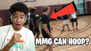 MMG CAN HOOP?!! RDCworld1​, MMG​ vs AMP​ 4v4 Basketball Reaction!