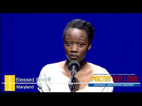 Poetry Out Loud: Blessed Sheriff recites