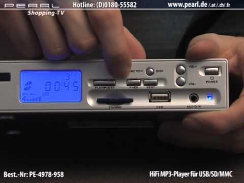 auvisio HiFi MP3-Player für USB/SD/MMC