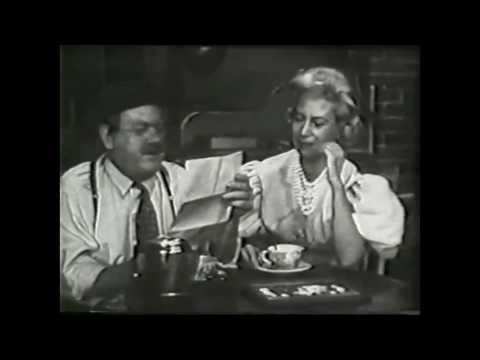 Cliff Arquette and Dinah Shore Comedy Sketch  From (1959)