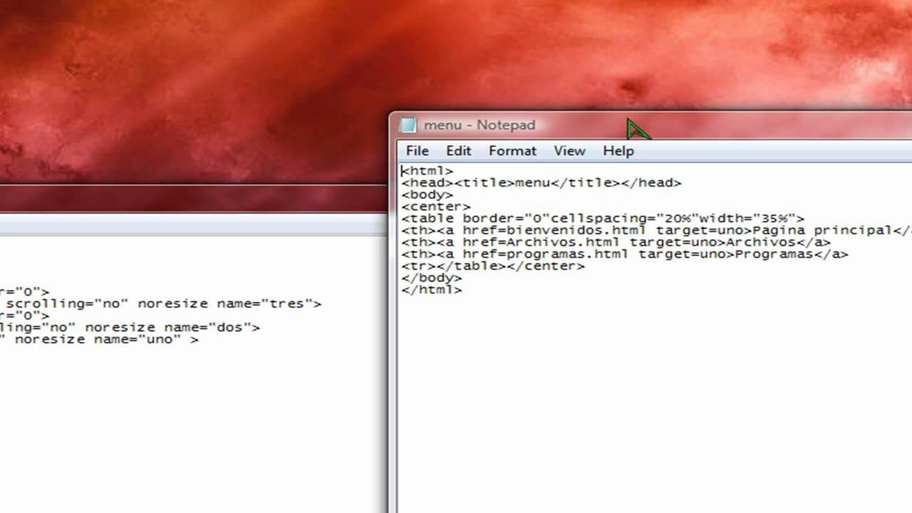 Frames en html - YouTube