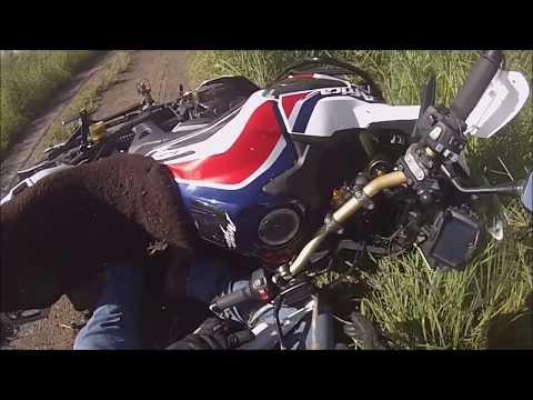 I  Crash my Africa Twin CRF 1000l