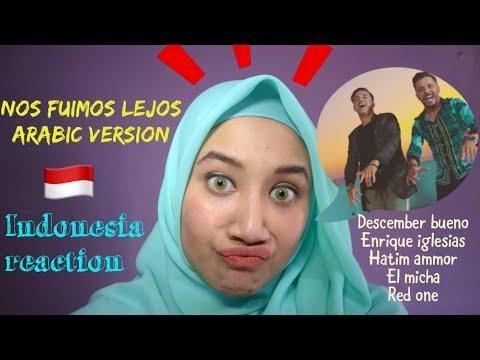 Descemer Bueno, Enrique Iglesias, Hatim Ammor & RedOne - Nos Fuimos Lejos INDONESIA REACTION