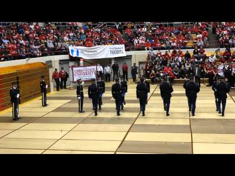 Ohio State Marching Band US Army Precision Drill Team at the Skull Session 11 7 2015