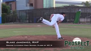 Blake Janowicz - Pitching & Hitting - Class of 2019