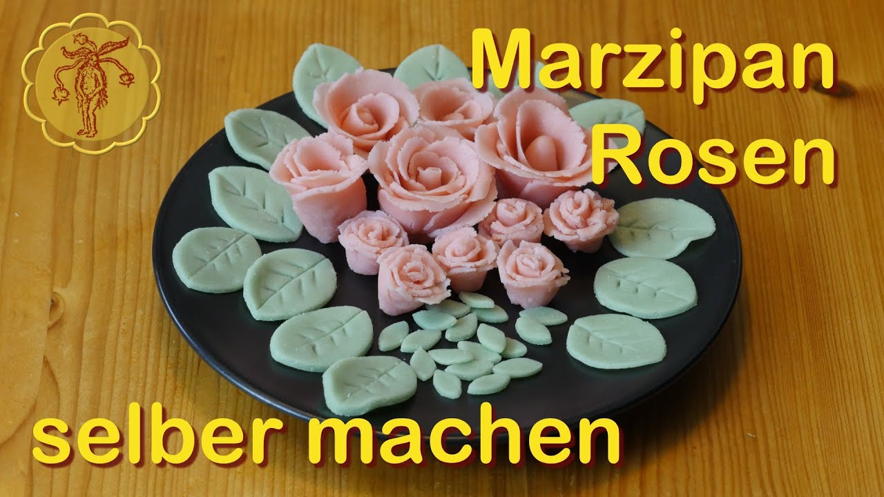 marzipan rosen selber machen youtube. Black Bedroom Furniture Sets. Home Design Ideas