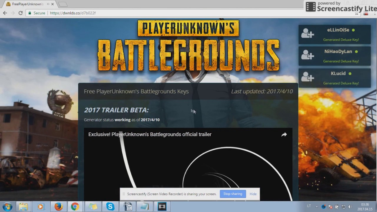 Free PlayerUnknown's Battlegrounds Keys Generator (April 2017 ...