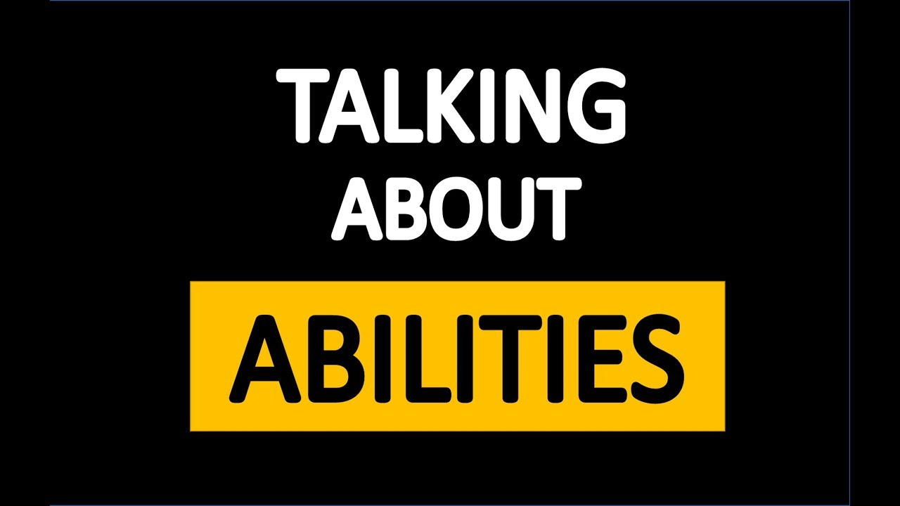 Download TALKING ABOUT ABILITIES- ABILITIES - ENGLISH  EDUCATIONAL VIDEOS