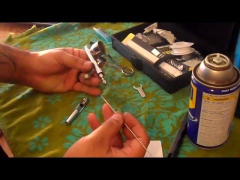 How to clean your airbrush and a clogged nozzle