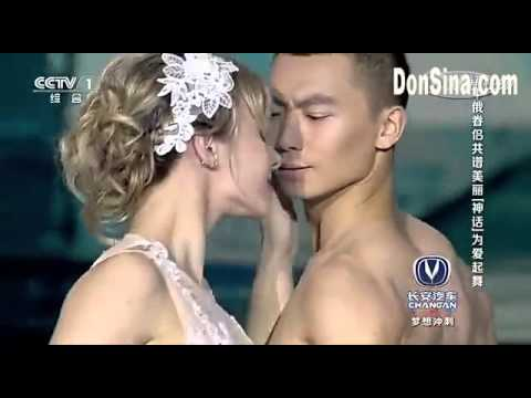 Acrobatic dance, the most beautiful combination, Chinese man and Russian woman