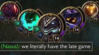 League of Legends but our team infinity scales so we literally always have the late game lool