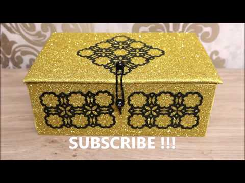 How to Reuse cardboard boxes into jewelry box