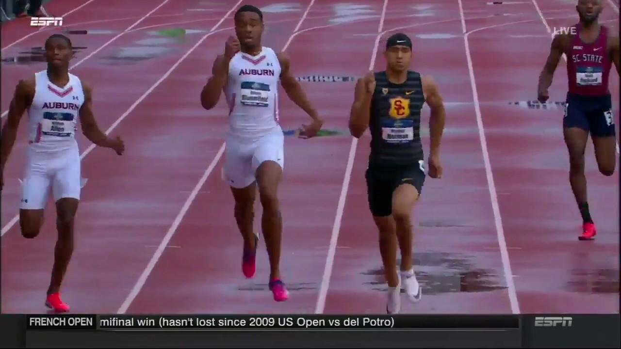 MICHAEL NORMAN 43.61 ???? - Men's 400m Final  NCAA Outdoor Championships Eugene 2018