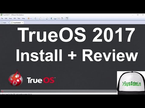 TrueOS 2017 Installation + Review + VMware Tools on VMware Workstation [2017]