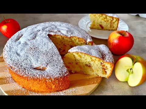 ВКУСНЕЙШИЙ ПИРОГ 🍰 К ЧАЮ! Простой рецепт ШАРЛОТКИ 🍎 с яблоками